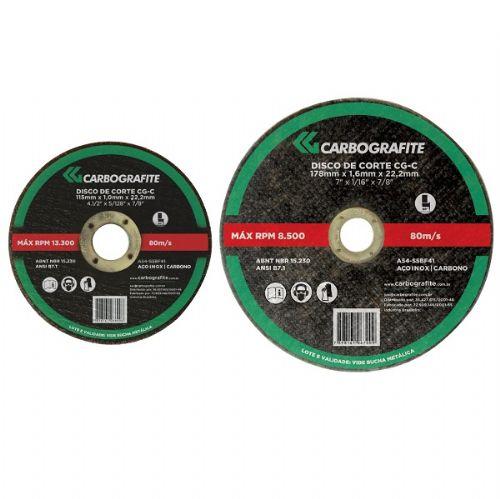 Disco de Corte CG-C - Aço Inoxidável