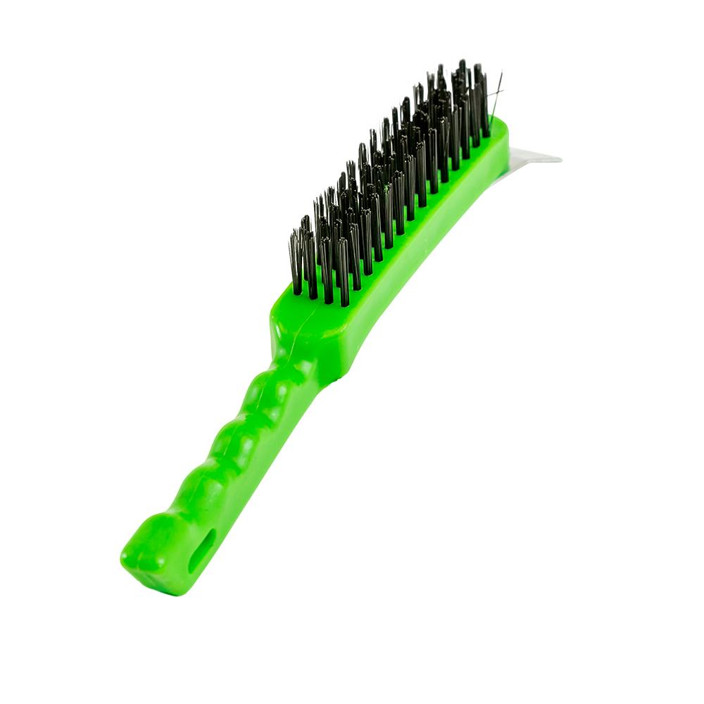 Escova de Aço Corpo Plástico com Raspador