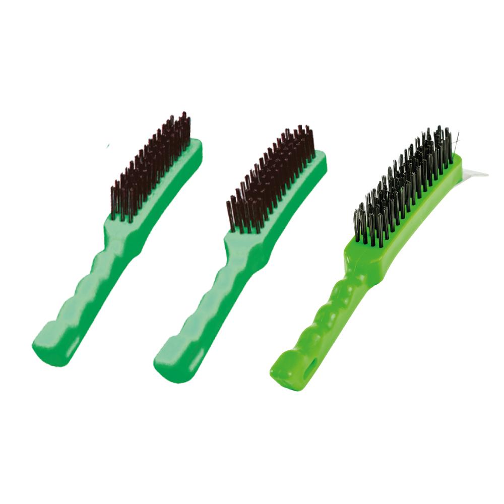 Escova de Aço Manual em Plástico