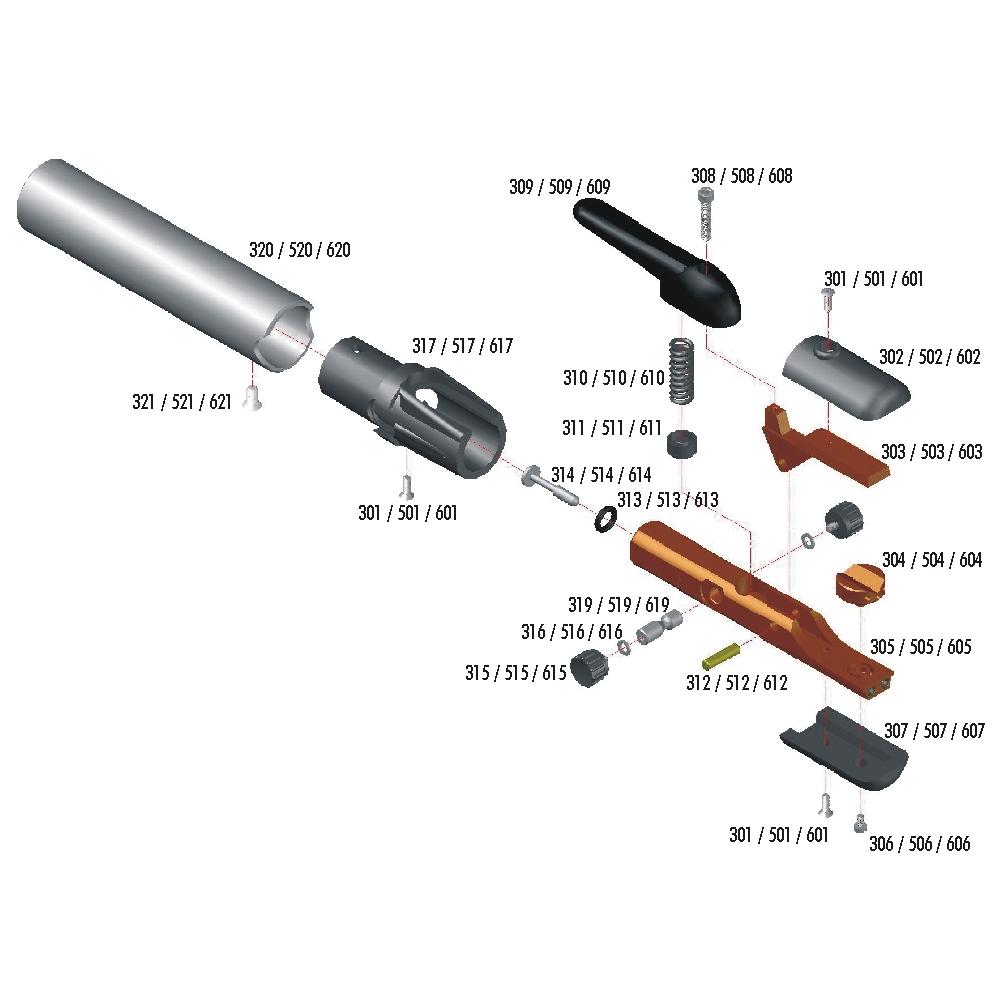 Peças de Reposição para Pistola F3 / F5 / F6
