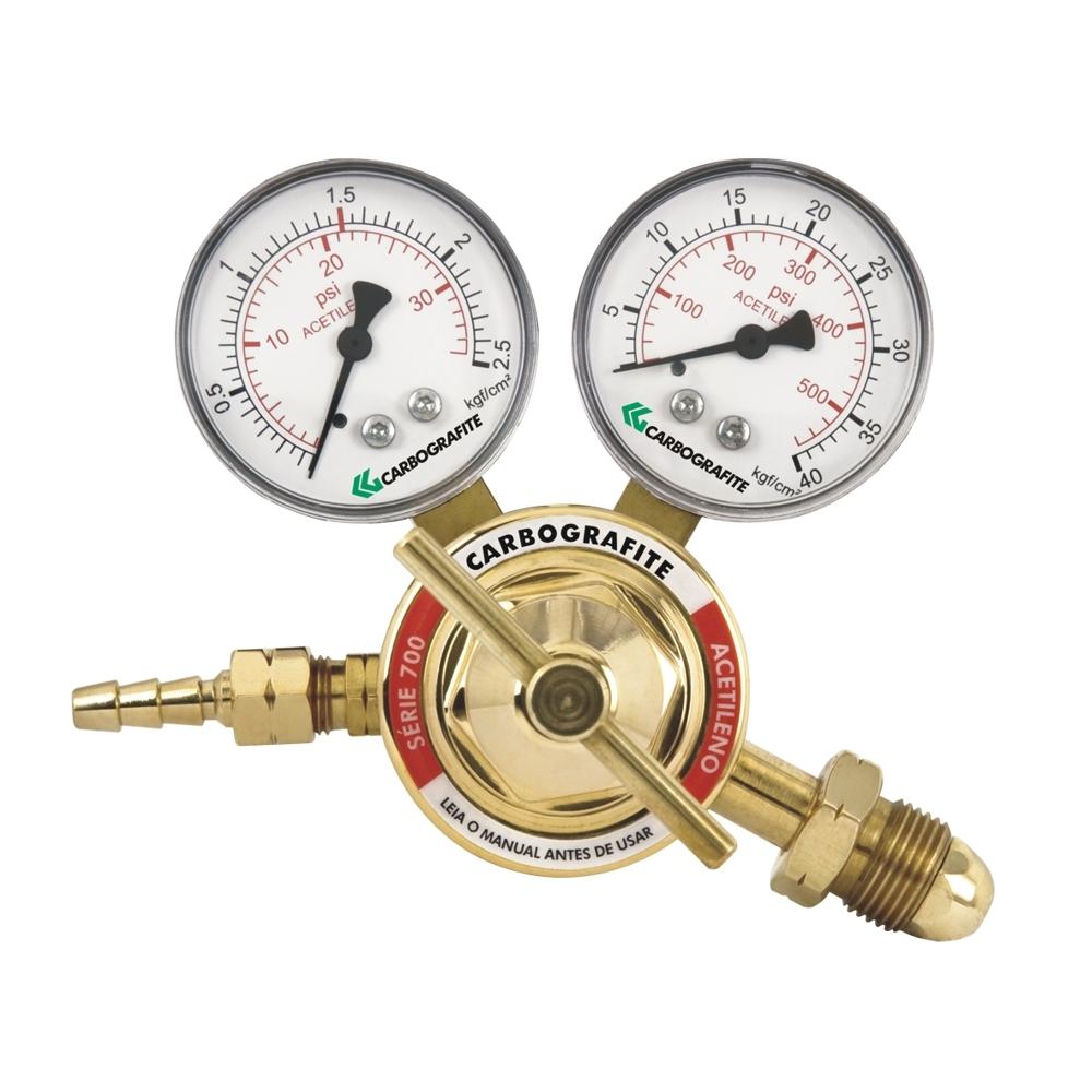 Regulador de Pressão Acetileno - Cilindro | Série 700