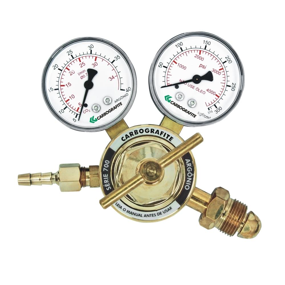 Regulador de Pressão Argônio - Cilindro | Série 700