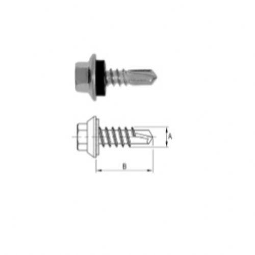 Parafuso Sextavado Auto-Brocante Modelo EPDM com Cabeça Flangeada / Anticorrosão