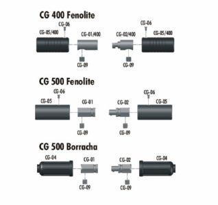 Parte metálica fêmea CG01 Fenolite